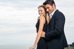 Couple standing outdoors Royalty Free Stock Photo