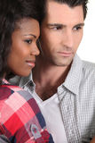 Couple standing side by side Stock Photography