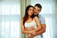 Couple standing together at home Royalty Free Stock Photography