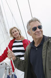 Couple On Standing Yacht Stock Photo