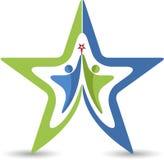 Couple star logo Stock Photos