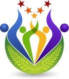 Couple star logo stock illustration