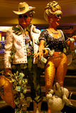 Couple statue of Harrah`s Las Vegas hotel and casino. Stock Photo