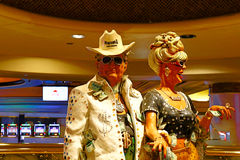 Couple statue of Harrah`s Las Vegas hotel and casino. Royalty Free Stock Photo