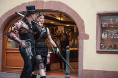 Couple with Steam punk costume Stock Photography