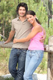 Couple stood in forrest Royalty Free Stock Images