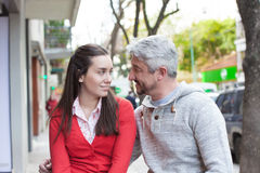 Couple in the street Royalty Free Stock Images