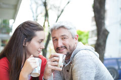 Couple in the street Stock Image