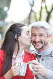 Couple in the street Royalty Free Stock Photography