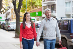 Couple in the street Stock Photos