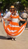 Couple of street performers, La Romana, Dominican Republic Royalty Free Stock Image