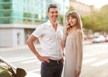 Couple on the street Royalty Free Stock Photos