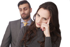 Couple stressed relations Stock Images