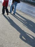Couple strolling Royalty Free Stock Images