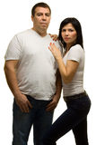 Couple - strong man and woman Royalty Free Stock Image