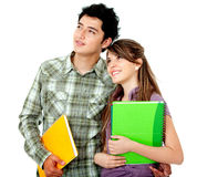 Couple of students Royalty Free Stock Images