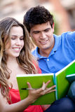 Couple of students Stock Images