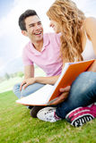 Couple of students Stock Image