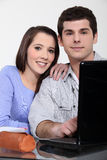 A couple of students Stock Image