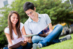 Couple of students Royalty Free Stock Photography