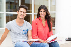 Couple of Students Royalty Free Stock Photo