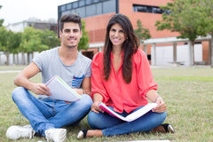 Couple of Students Royalty Free Stock Photos