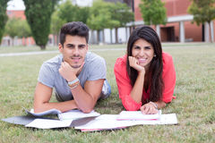 Couple of Students Stock Photo