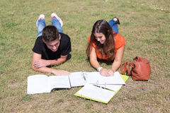 Couple of Students Stock Photography