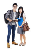Couple Students - Isolated Stock Images