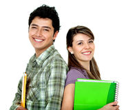 Couple of students smiling Royalty Free Stock Photography