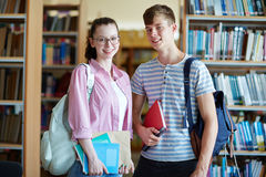 Couple of students Stock Photos