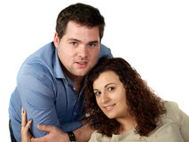 Couple studio portrait Royalty Free Stock Images