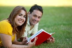 Couple studying Stock Image
