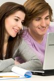 Couple studying Stock Photography