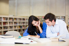 Couple studying Royalty Free Stock Images