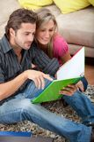 Couple studying Stock Photos