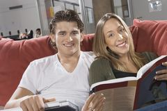 Couple Studying Together Royalty Free Stock Image