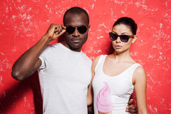Couple in style. Royalty Free Stock Photos