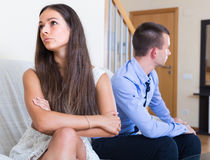 Free Couple Sulking On Each Other Royalty Free Stock Photos - 61917108