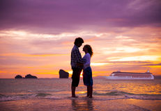 Couple Summer Beach Happiness Honeymoon Concept.  Royalty Free Stock Photography