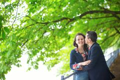 Couple on a summer or fall day Stock Photography