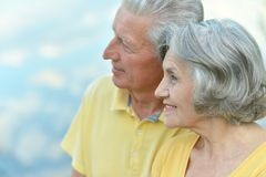 Couple in summer Stock Image