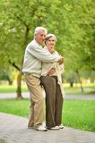 Couple in summer park Stock Photo