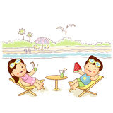 The couple summer vacation Stock Image