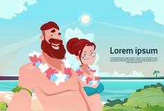 Couple On Summer Vacation Holiday Tropical Ocean Island Man And Woman Hawaii Honeymoon Royalty Free Stock Photography