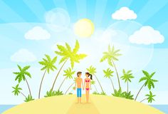 Couple summer vacation holiday tropical ocean Royalty Free Stock Image