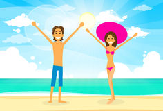Couple On Summer Vacation Holiday Tropical Ocean Stock Photo