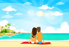 Couple On Summer Vacation Holiday Tropical Ocean Stock Image