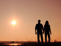 Couple on the sun Stock Photography