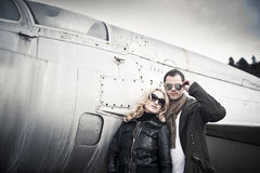 Couple with Sunglasses Royalty Free Stock Photography